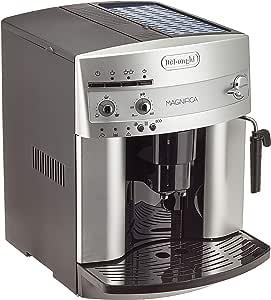 De'Longhi 德龙Magnifica ESAM 3200.S全自动咖啡机(按键设计,制作奶泡,13种程度研磨技术,可拆卸式萃取机芯,一次萃取两杯)银色