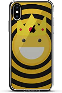 "LuxendaryLUX-IXCRM-EMOJI16 :D Emoji Smiling King With Crown iPhone X (5.8"") 银色"