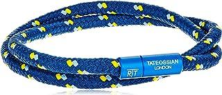 Tateossian Alum 尼龙蓝色 2 条鞋带运动手链