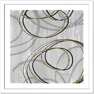 "Casa Fine Arts Motion 抽象档案印刷品 哑光白边框 31"" x 31"" 8745"