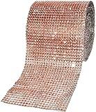 Mandala Crafts 人造钻石闪亮缠绕,人造水钻水晶网丝丝带卷,适用于婚礼、派对、*装饰、蛋糕、花瓶闪发光装饰 香槟色 4.75 Inches 24 Rows 10 Yards Rhinestone Mesh Wrap Ribbon