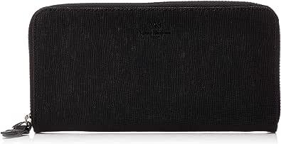 YKikukimijiman 长款钱包 收纳12张 带拉链零钱袋 YK-AA001NT 黑色