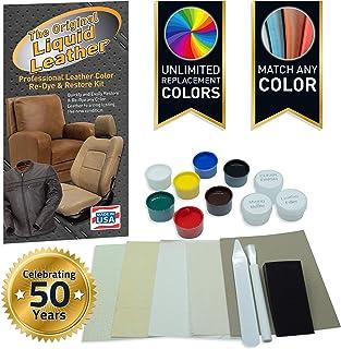 适用于所有乙烯基和皮革的液体皮革修复和颜色颜色套装。 恢复为新的状态;汽车座椅、船只、内饰、沙发、椅子、皮革外套等