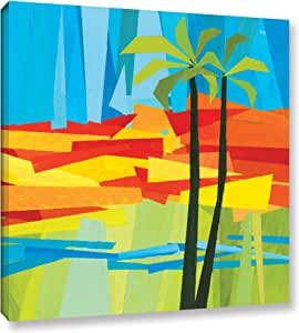 "ArtWall Jan Weiss's Two Palms Gallery Wrapped Canvas, 24"" x 24"""