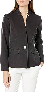 Kasper 女士长袖 1 粒扣针点夹克