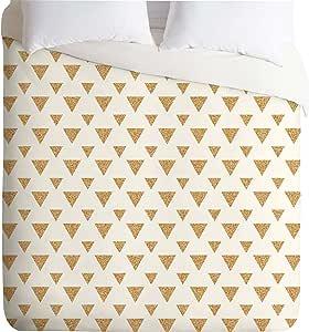 DENY Designs Allyson Johnson Glitter Triangles Lightweight Duvet Cover, Twin