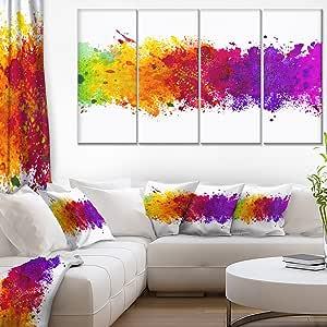 """designart 4件 """" 艺术水彩 SPLASH """" 油画艺术品"""
