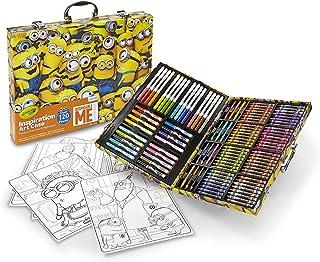 Crayola 绘儿乐 《卑鄙的我》创意艺术盒,120件,Minions小黄人,艺术套装,年龄6、7、8、9、10