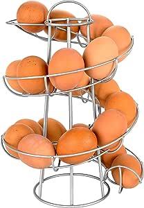 """Southern Homewares Egg Skelter 豪华现代螺旋分配器可悬挂架,银色 银色 10.63"""" SH-10159"""