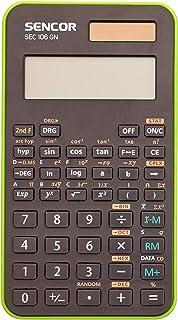 SENCOR SEC 106 GN学校计算器 56 科学功能大 10 位数 LCD 显示屏 三角形和超压功能
