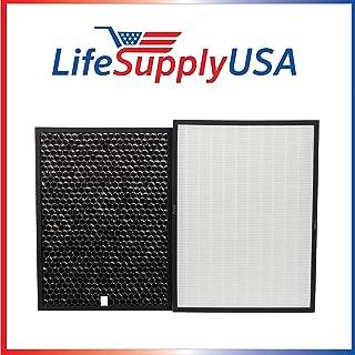 LifeSupplyUSA 替代品 HEPA 和碳过滤器套件兼容兔子空气生物/BioGP SPA-421A 和 SPA-582A 空气净化器