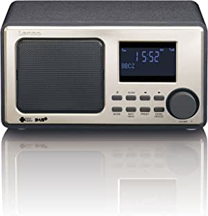Lenco 数字收音机 DAB-11 DAB + 收音机 6.60厘米(2.6英寸)液晶显示屏,*功能黑色