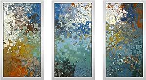 "Picture Perfect International 704-2011-1224 Mark Lawrence ""Psalm 121 7 MAX"" Framed Plexiglass Wall Art, Set of 3, 13.5"" W x 25.5"" H x 1"" D"