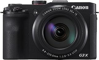 Canon 佳能 PowerShot G3 X 数码相机(20.2 百万像素,25倍光学变焦,8厘米(3.1英寸)显示屏,全高清)黑色