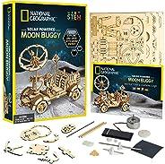 国家地理木制模型套件 - DIY 太阳能汽车包括一个 3D 拼图来建造一辆月亮玩具,非常适合女孩和男孩,喜欢外太空和工程