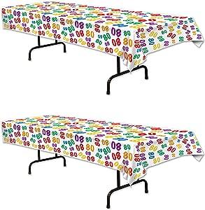 Beistle 桌布,137.16 x 274.32 厘米,多色 多种颜色 S57824-80AZ2