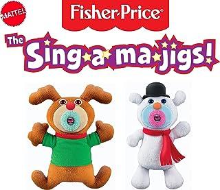 Mattel The Sing-A-Ma-Jigs 圣诞组合组合套装 - 驯鹿和雪人
