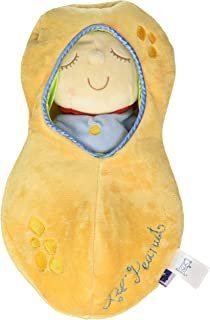 Manhattan Toy Snuggle Pod Hunny Bunny First 婴儿玩偶,带舒适*袋 Lil' Peanut Size 花生