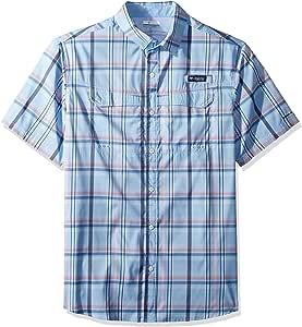 Columbia 男士超低拖鞋短袖衬衫 小号 蓝色 1653521-486