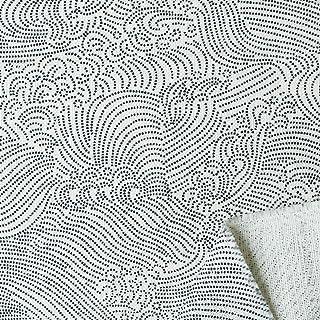 NBK 日式印刷「波纹」 皱线交叉 宽108cm×6m断售裁剪 生成 B88333Z-2-1-6M