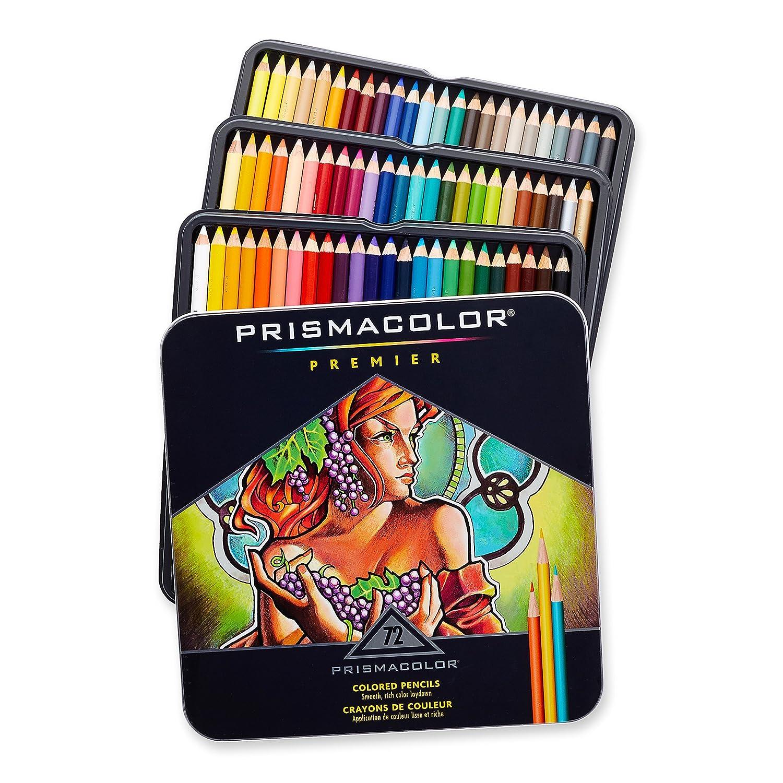 美国Sanford旗下,Prismacolor 霹雳马 3599 Premier软芯彩色铅笔 72色