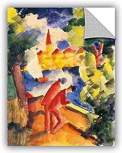 "ArtWall Franz Marc's Man on Lakeside Terrace Art Appeelz Removable Graphic Wall Art, 18"" x 24"""