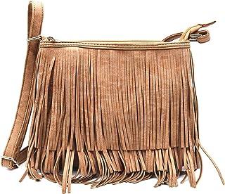 西部牛仔风格流苏斜挎包手提包隐藏携带钱包乡村女士单肩包