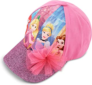 Disney Little Girls Princess Character Cotton Baseball Cap, Pink, Age 4-7
