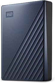 Western Digital 西部數據 5Tb MyPassport Ultra 便攜式外置硬盤,藍色,USB-C-WDBFTM0050BBL-WESN