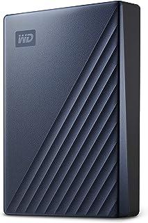 Western Digital 西部数据 My Passport Ultra 带密码保护和自动备份软件的便携式硬盘,支持USB-C-与PC,Xbox和PS4兼容,蓝色,5 TB