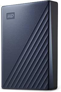 Western Digital 西部数据 5Tb(约11*8.2*2.1cm)MyPassport Ultra 便携式外置硬盘,蓝色,USB-C-WDBFTM0050BBL-WESN