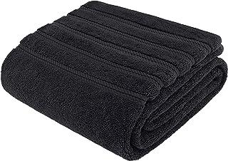 "American Soft Line,* 土耳其纯棉高级豪华毛巾套装,适用于浴室和厨房 黑色 Jumbo Bath Towel 35""x70"""