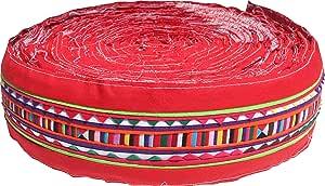 Full Funk Lisu Lahu 泰国 山部落折叠布艺制作布带卷 红色 3 inch x 1 yard item825730AMZ