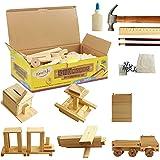 Kraftic DIY 豪华木工工具包,带 6 个项目