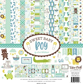 """Echo Park Collection Kit 12""""X12""""-Sweet Baby Boy"""