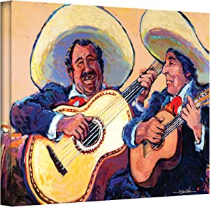 Art Wall Mariachi de Cabo Gallery Wrapped Canvas Art by Rick Kersten, 14 by 18-Inch