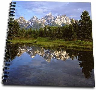 "3dRose db_205648_2 Usa, Wyoming, Grand Teton Np. Grand Tetons Reflect in The Snake River. Memory Book, 12 by 12"""