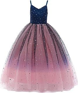 Glamulice 女童復古花卉連衣裙休閑棉質露背肩帶沙灘花朵夏季連衣裙
