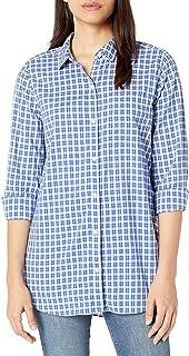 亚马逊品牌 - GoodThreads女士轻型府绸长袖男友衬衫