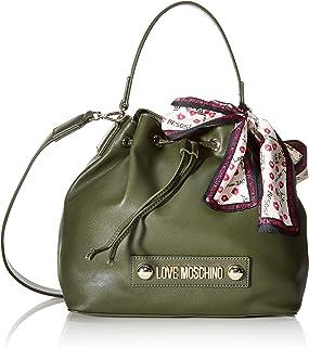 Love Moschino 女士波尔萨天然粒面PU手提包,桶状,25x9x28 厘米