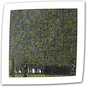 Art Wall The Park 14 by 14-Inch Flat/Rolled Canvas by Gustav Klimt with 2-Inch Accent Border