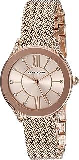 Anne Klein Women's Swarovski Crystal Accented Mesh Bracelet Watch