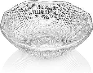 IVV Glassware Diamante Salad/Mixing Bowl, 5-3/4-Inch