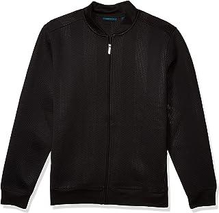 Perry Ellis 男士高大款 V 形全拉链针织轻质短夹克