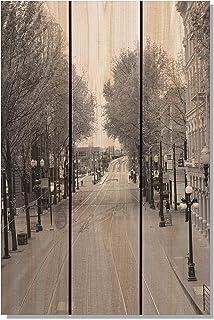 Gizaun Art City Street 内外壁画,全彩雪松 棕褐色 16-Inch by 24-Inch PCS1624