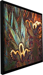 ArtWall 'Borrego Cactus Patch' Floater Framed Gallery-Wrapped Canvas Artwork by Dean Uhlinger, 18 by 18-Inch, Holds 16.5 by 16.5-Inch Image