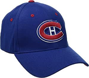 ZHATS NHL Montreal Canadiens 男士 Breakaway 帽,皇家蓝,XL 码
