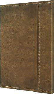 Sigel conceptum系列 磁扣封面笔记本复古风格棕色A4方格内页