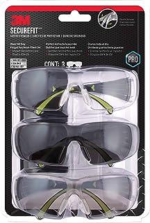 3M SF400-W-3PK-PS Secure-Fit 400 防雾护目眼镜,多件装(3件装)