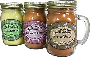 Our Own Candle Company,香味梅森罐蜡烛,397ml (3 件装) Grab Nuts Pack Our Own Candle Company Caramel Pecan, Ba